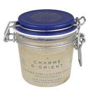 Пилинг для тела с квасцовым камнем Цветок апельсинового дерева Fleur d'Oranger Alum stone scrubs with honey and royal jelly Charme d'Orient